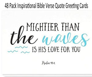 Bible Verse Greeting Cards on Amazon